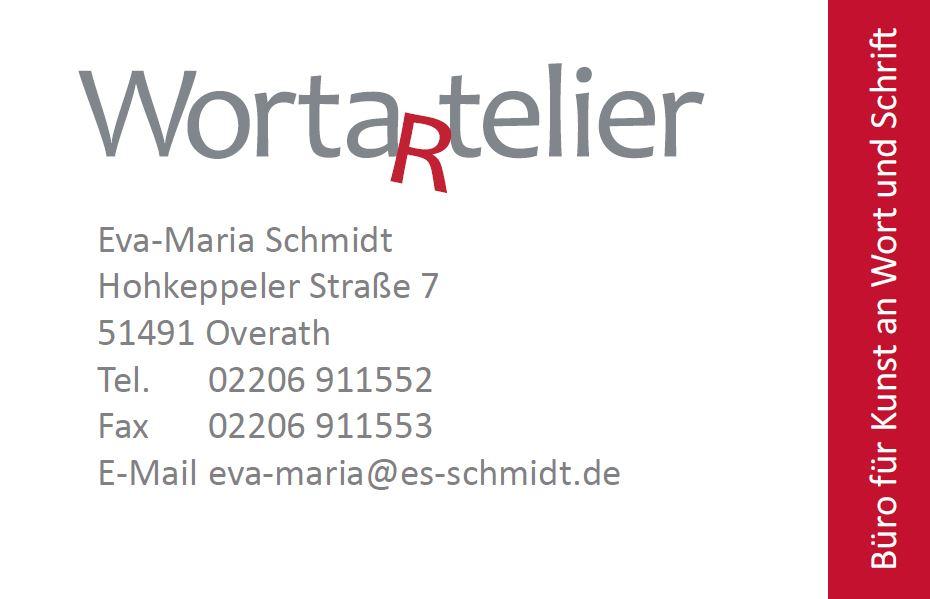 Worta(r)telier Visitenkarte